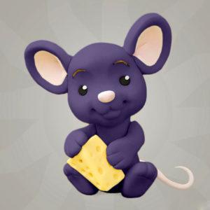 Фиолетовая сахарная мастика